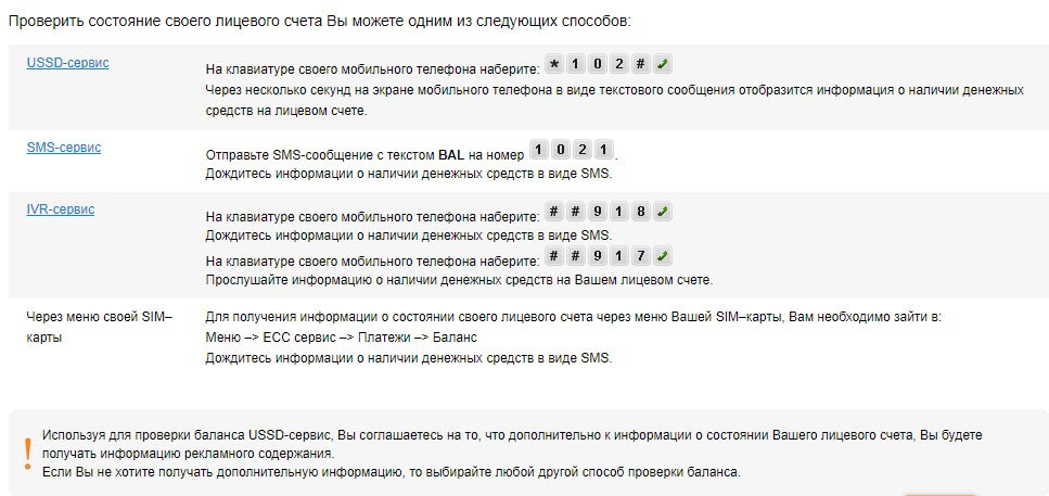 Команды для проверки баланса сотовой связи Мотив
